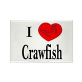 I Love Crawfish Rectangle Magnet (10 pack)