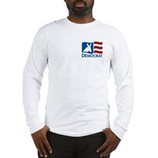 Democratic Flag Long Sleeve T-Shirt