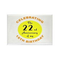 40th Birthday Anniversary Rectangle Magnet (10 pac