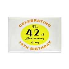 60th Birthday Anniversary Rectangle Magnet (10 pac