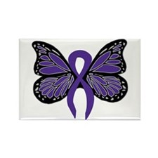 Relay For Life - Purple Ribbo Rectangle Magnet (10