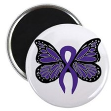 """Relay For Life - Purple Ribbo 2.25"""" Magnet (1"""