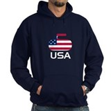USA curling Hoodie
