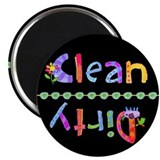 Kid Glo Clean Dirty Dishwasher Magnet