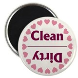 Hearts Clean Dirty Dishwasher Magnet