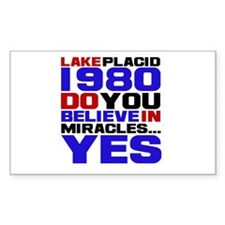 Miracle on Ice 1980 Sticker (Rectangle)