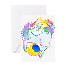 Celestial Unicorn Greeting Card