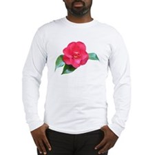 Red Camellia Long Sleeve T-Shirt