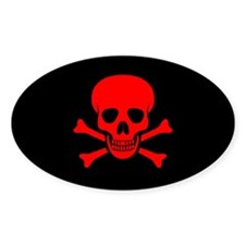 Skull & Crossbones (red) Decal
