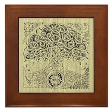 Celtic Tree of Life Ink Framed Tile