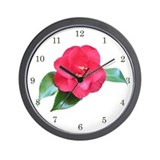 Red Camellia Wall Clock