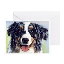 Cute Australian shepherd Greeting Cards (Pk of 20)