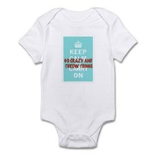 Cute Keep calm and carry on vintage Infant Bodysuit