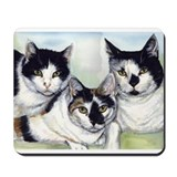 Funny Cats black and white Mousepad