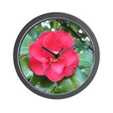 Red Camellia Wall Clock 2