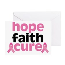 Hope Faith Cure Greeting Cards (Pk of 10)
