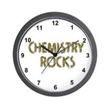 Chemistry Rocks Wall Clock