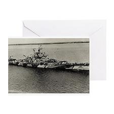 BB 58 Ships Image Greeting Cards (Pk of 10)