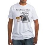 Caveman Census Taker Fitted T-Shirt