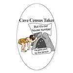 Caveman Census Taker Sticker (Oval)