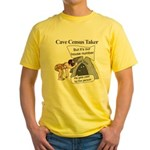 Caveman Census Taker Yellow T-Shirt