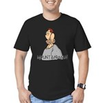 Mountain Man Men's Fitted T-Shirt (dark)