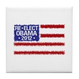 Re-Elect Obama 2012 Tile Coaster