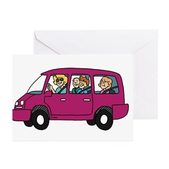 Carpool Greeting Cards (Pk of 10)