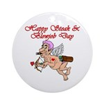 Steak & Blowjob Day Ornament (Round)