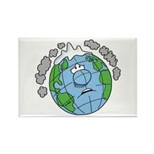 Earth Blues Rectangle Magnet