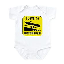 I Love To Motorboat! Infant Bodysuit