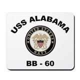 USS Alabama BB 60 Mousepad