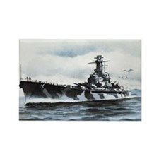 USS Alabama Ships Image Rectangle Magnet