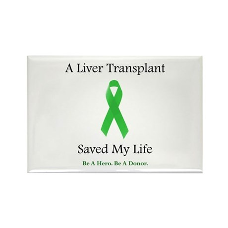 Liver Transplant Survivor Rectangle Magnet