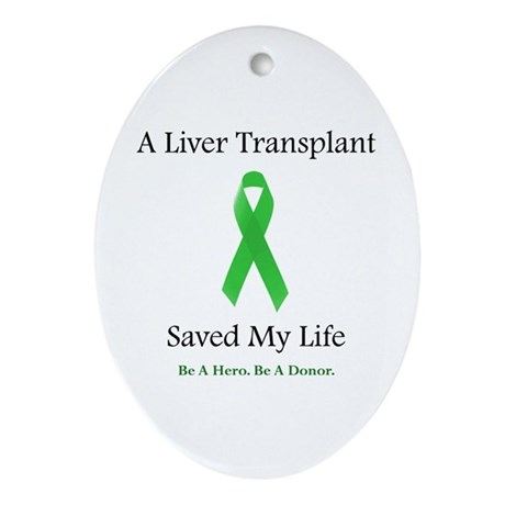 Liver Transplant Survivor Oval Ornament