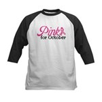 Pink For October Kids Baseball Jersey