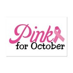 Pink For October Mini Poster Print