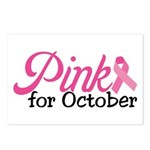 Pink For October Postcards (Package of 8)