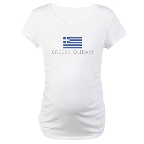 Greek Holidays Maternity T-Shirt