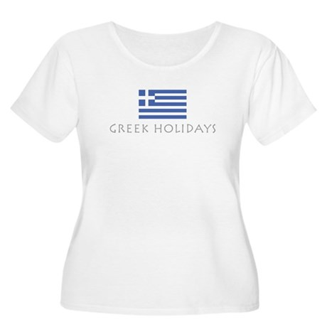 Greek Holidays Women's Plus Size Scoop Neck T-Shir