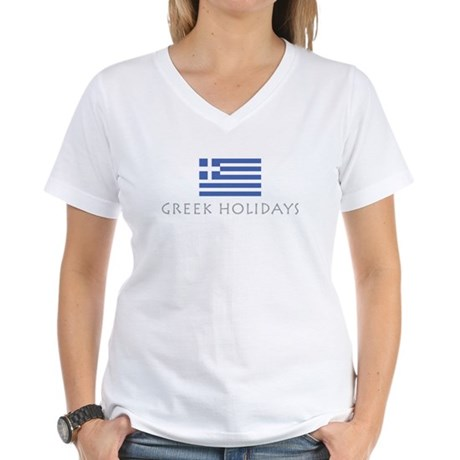 Greek Holidays Women's V-Neck T-Shirt