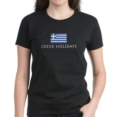 Greek Holidays Women's Dark T-Shirt