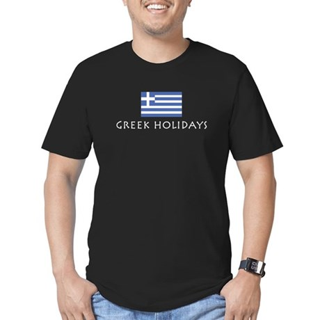 Greek Holidays Men's Fitted T-Shirt (dark)