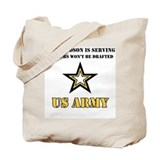 US Army Grandson Serving Tote Bag