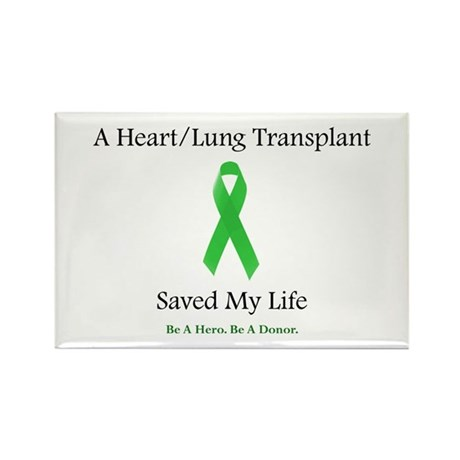 Heart/Lung Survivor Rectangle Magnet