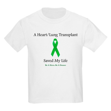 Heart/Lung Survivor Kids Light T-Shirt