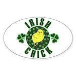 Irish Chick Sticker (Oval)