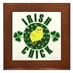Irish Chick Framed Tile