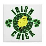 Irish Chick Tile Coaster