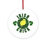 Irish Chick Ornament (Round)